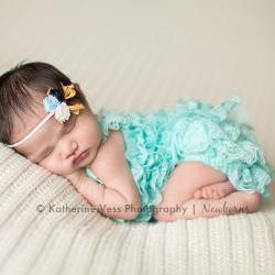 Headbands, Baby Flower Headband, Newborn Flower Headband, Satin Rose Bloom, Set of Four, Pick your colors